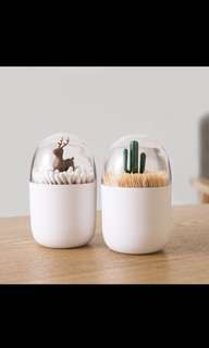 Qualy-inspired toothpick and earbud holders