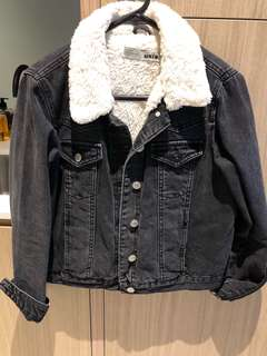 Moto Black Fur Jacket