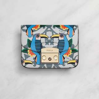 Toni Cielo Aruba Printed Leather Metropolis Mini Crossbody Bag