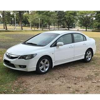 Honda Civic 1.8(A) 2009 Taffeta White