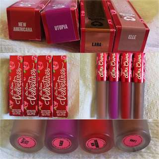 Vegan liquid lipsticks, Lime Crime