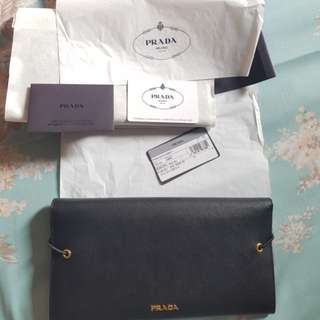 PRADA SAFFIANO MEN CLUTCH