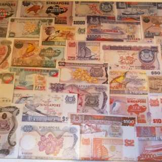Poster of Singapore Currencies in Frame (1)