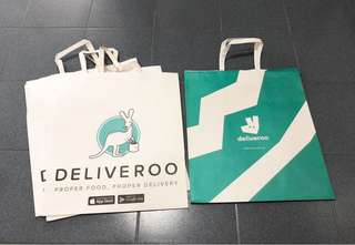 Large Deliveroo Paper Bags
