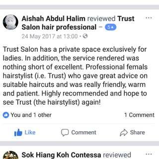 Hair cut for Muslimah
