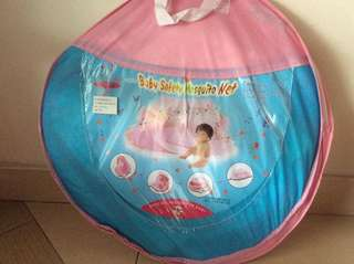 Baby safety mosquitos net w/music (pink colour)