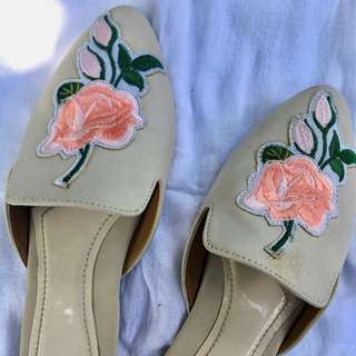 Flat Embroidered Mules (Gucci inspired)