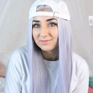 LF > Lilac lace front long wig