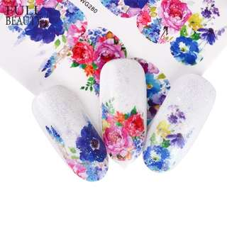 Full Beauty 1 Sheets New Charms Sticker Nail Art Sticker Flower Unicorn Cute Full Cover Designs for Nail Decorations CHWG