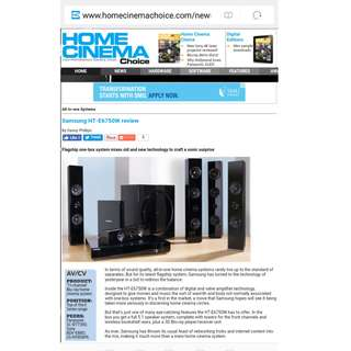 Samsung HT-E6750w flagship home theatre cinema 7.1 TV surround system