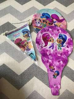 Shimmer & Shine Party Banner and Foil Balloons
