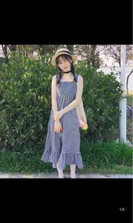 [P.O] Ulzzang Checkered Midi Dress