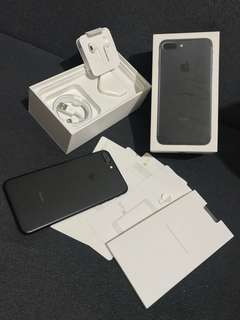 iPhone 7 Plus 256gb Matteblack Factory Unlocked Complete Package