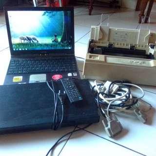 Laptop + Printer + VCD