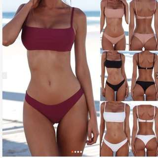 Swimwear Bikini Set Bathing Bandage Bra- BLACK and SMALL Only!