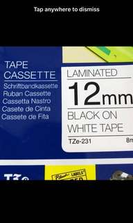 Brother label cartridge cassette (Tze tape)