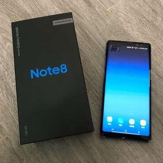 9成新 Samsung Galaxy Note 8 6+128GB 深海藍色 配件全齊