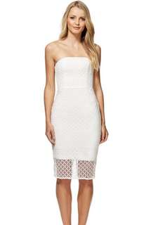Kookai Lucia Lace Midi Dress