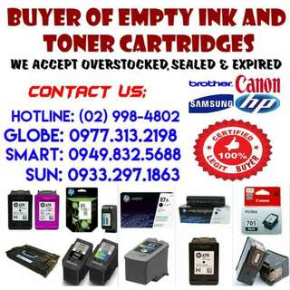 EMPTY INK AND TONER CARTRIDGES BUYER