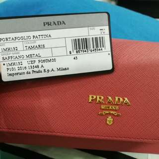 New Authentic Prada Wallet