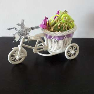 Surprise him/her - Tricycle with display basket, storage, holder