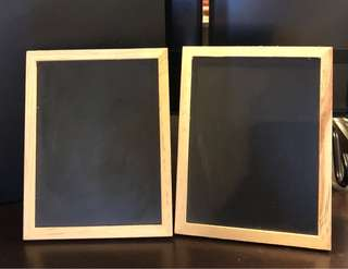Mini easel chalk board