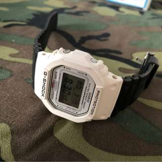 Gshock protection(White face and black strap)