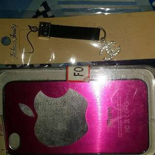 Iphone 4g/4s case with free accesory phone