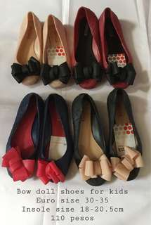 Bow doll shoes for girls size 30-35