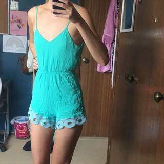 Turquoise Play Suit