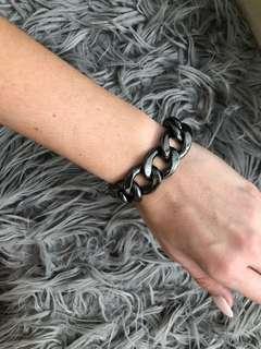 Gunmetal thick bracelet