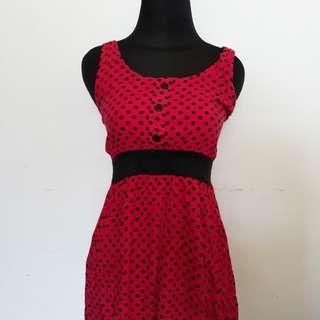 Dress Mini Polka Pink