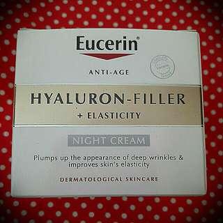 Brand New, Eucerin Anti-Age Hyaluron Filler and Elasticity Night Cream