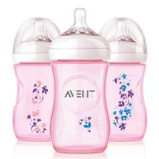 Avent Baby Bottle Butterfly Pink