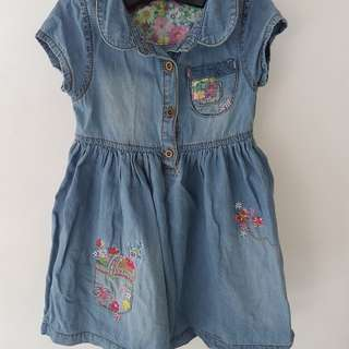 Mothercare Preloved Denim Dress