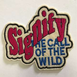 Iron On Patch Signify the call of the wild