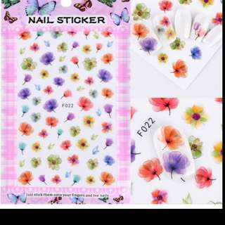 Full Beauty New 3D Nail Art Adhesive Transfer Sticker Poppy Flowers Unicorn Owl Decals Nail Beauty Decoration DIY Sticker CHF/CA