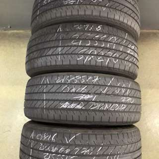 215/55/17 sp270 dunlop 2pc used tyre 60% tread $45pc