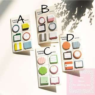 《Ready Stock》 90pcs Clock Memo Schedule Marker Sticky Note