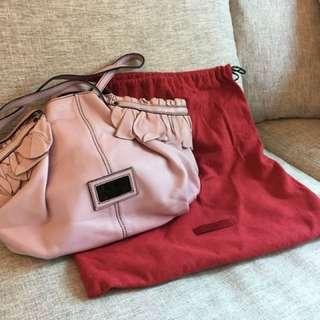 Valentino 正品紛紅色真皮手袋