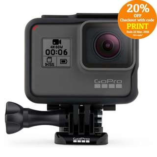 BRAND NEW GoPro Hero 6 Black Waterproof 4K Video Action Camera with QuikStories FREE DELIVERY