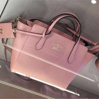 Authentic gucci swing tote bag in pink