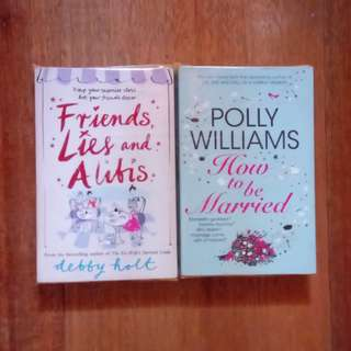 2 books (Friends, Lies and Alibis, How to be Married)