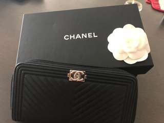 Chanel boy chevron wallet perfect condition