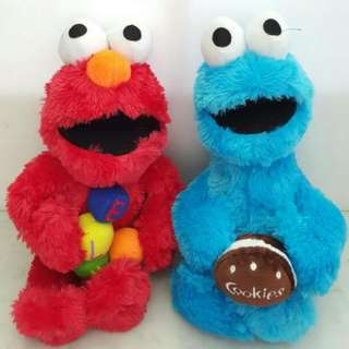 Boneka elmo monster cookies couple 30 cm