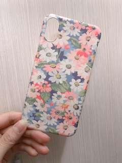 文青碎花Iphone x手機硬殻