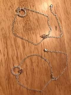 Two silver bracelets brand new