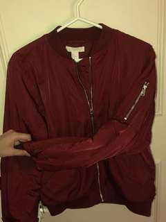 BRAND NEW H&M RED BOMBER JACKET