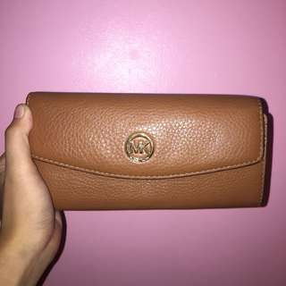 Michael Kors Fulton Leather Slim Flap Wallet