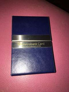 Card holder (metrobank)
